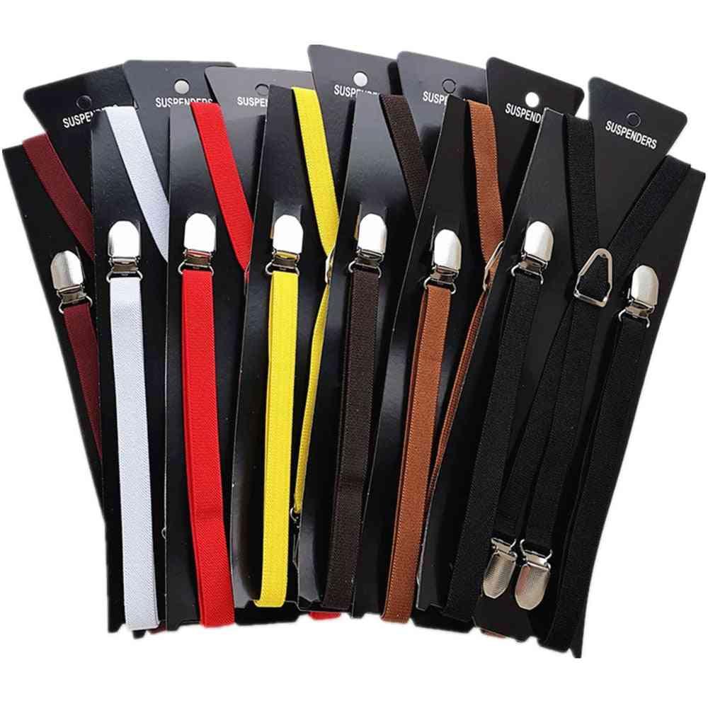 Wide Men Suspenders Women Elastic Adjustable Adult Braces Suspender