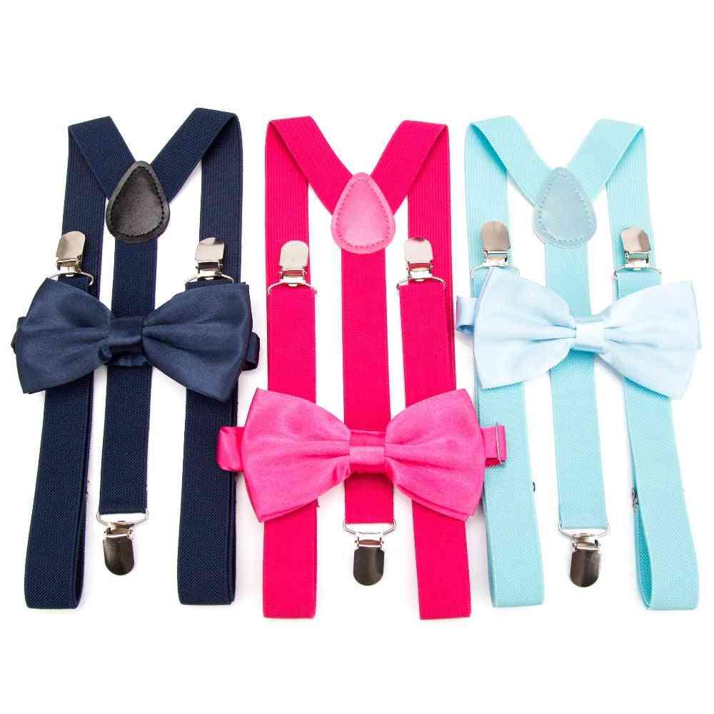 Suspenders Bow Tie Set Men Fashion Suspensorio