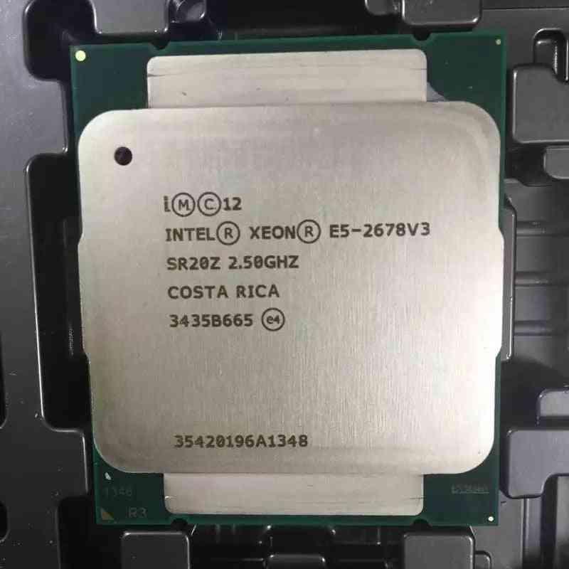 Intel E5 2678 V3 2.5ghz 30mb 12core 120w 22nm Socket Lga 2011-3 Sr20z Processor Cpu