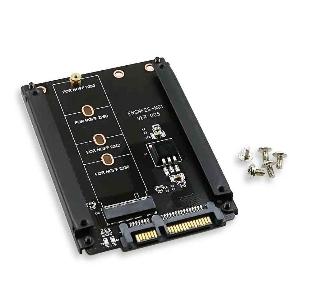 Metal Case B+m Key M.2 Ngff Ssd To 2.5 Sata 6gb/s Adapter Card  With 5 Screw