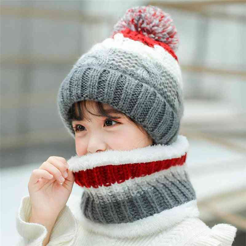 Winter Warm, Knitted Hat And Scarf Set