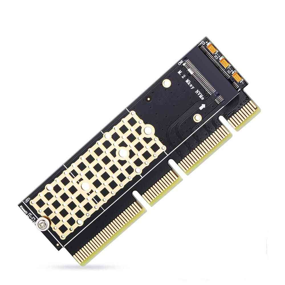 Ssd To Pcie Card M2 Key M Driver With Silicone Cooling Pad Hard Drive Adapter Support Pcie X4x8x16 Slot