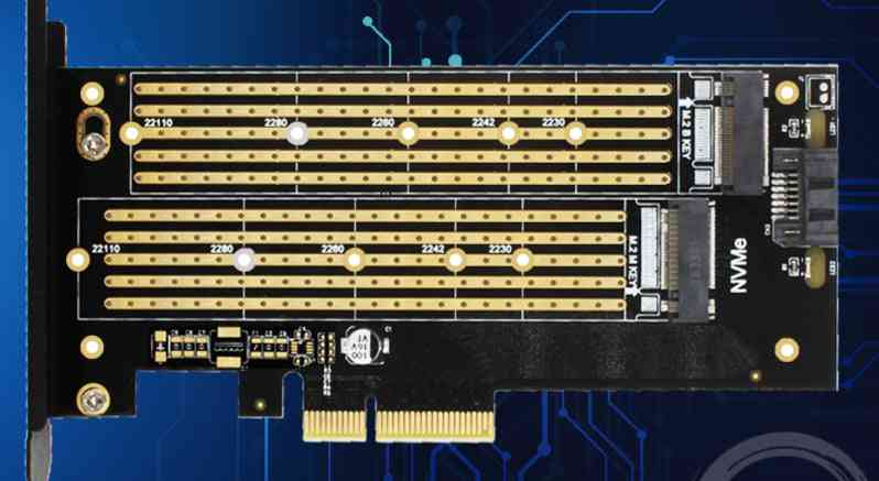 Sk6 M.2 Nvme, Ssd Ngff To Pcie X4 Adapter, M Key B Key Dual Interface Card Support