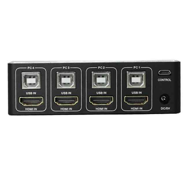 4 Port Hdmi Kvm Switch, 4k Usb Hdmi Kvm Switcher