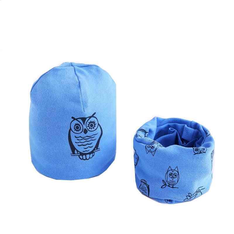 Cotton Plush Hat Scarf Set 38