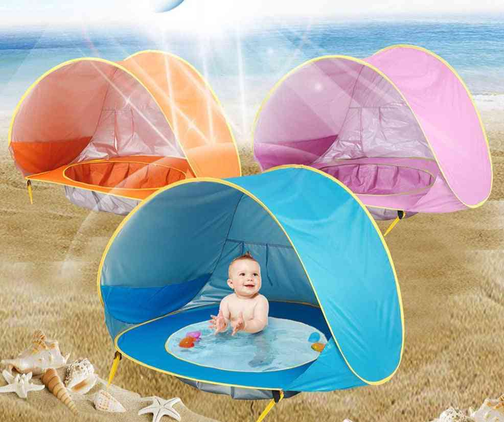 Waterproof Pop Up, Uv-protecting Beach Tent With Pool