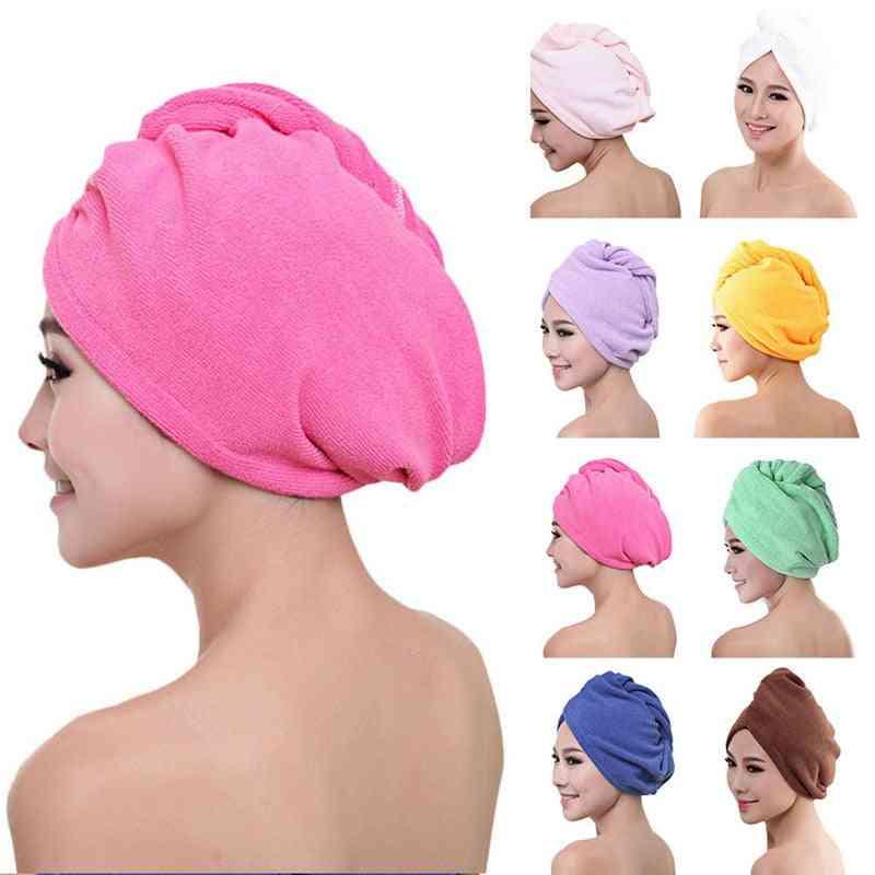 Hair Quick Drying Lady Bath Towel Soft Shower/turban Head Wrap Bathing Tools