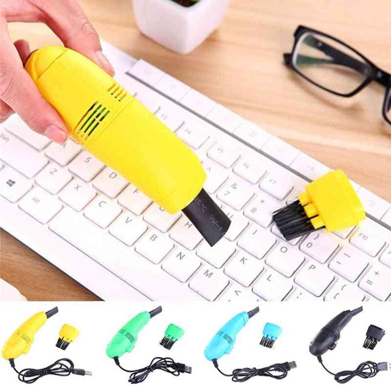 Useful Mini Computer Vacuum Usb Keyboard Brush Cleaner Laptop Brush Dust Cleaning Kit