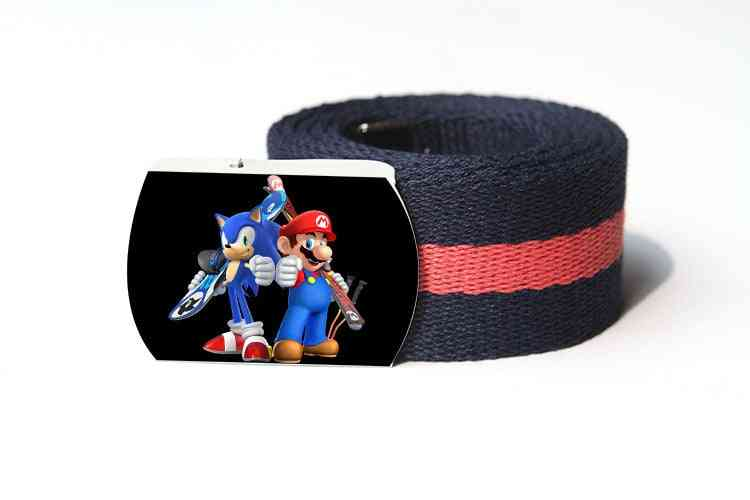 Super Mario Child Canvas Belt For And