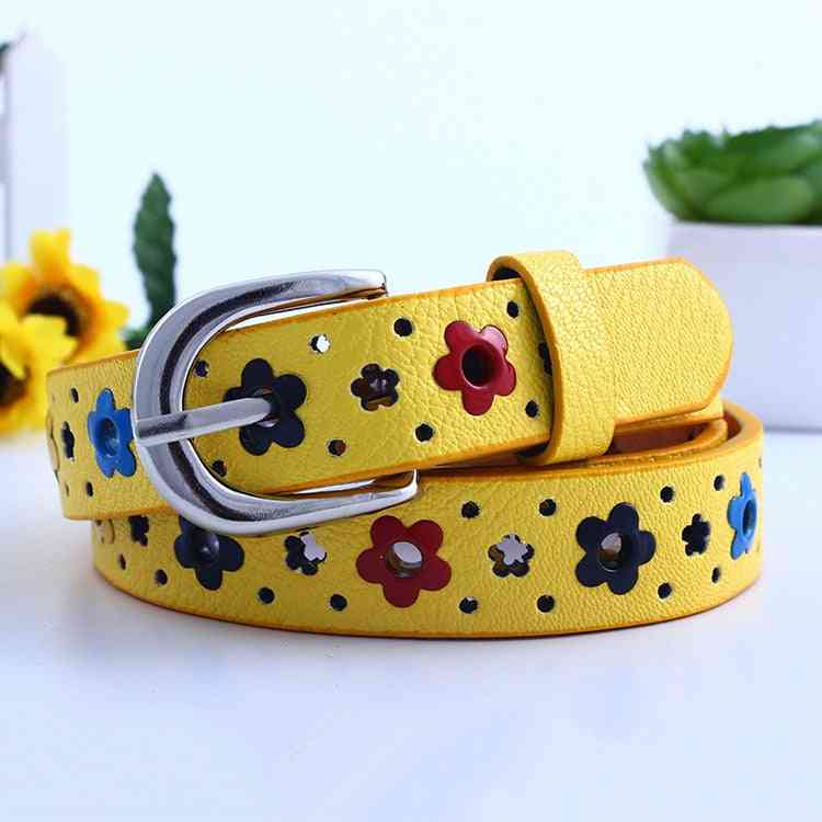 Girl, Hollow Out Cute Waist Pin Buckle Casual Belts