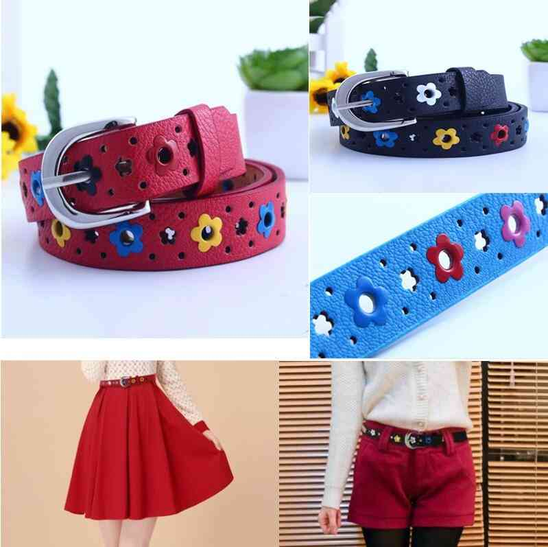 Children Pu Leather Belts For Jeans Pants