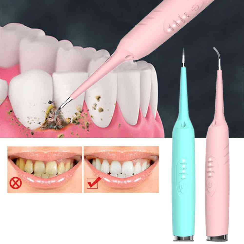 Waterproof, Electric Dental Tooth Calculus Remover-healthy Gums And Whiten Teeth