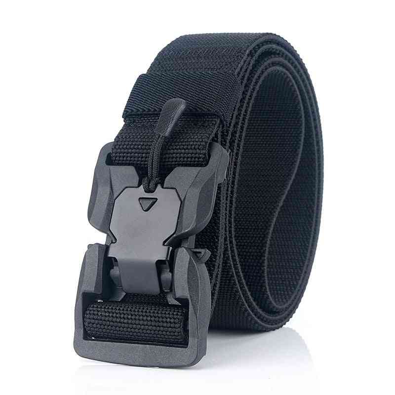 Official Genuine Tactical Magnetic Buckle Military Soft Real Nylon Belt