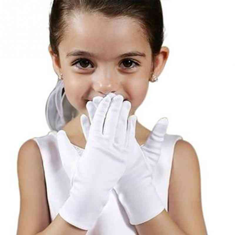 Short Satin Dance Performance - Elastic Gloves For