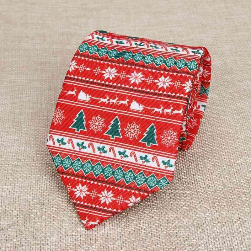 Christmas Theme Print Polyester Neckties