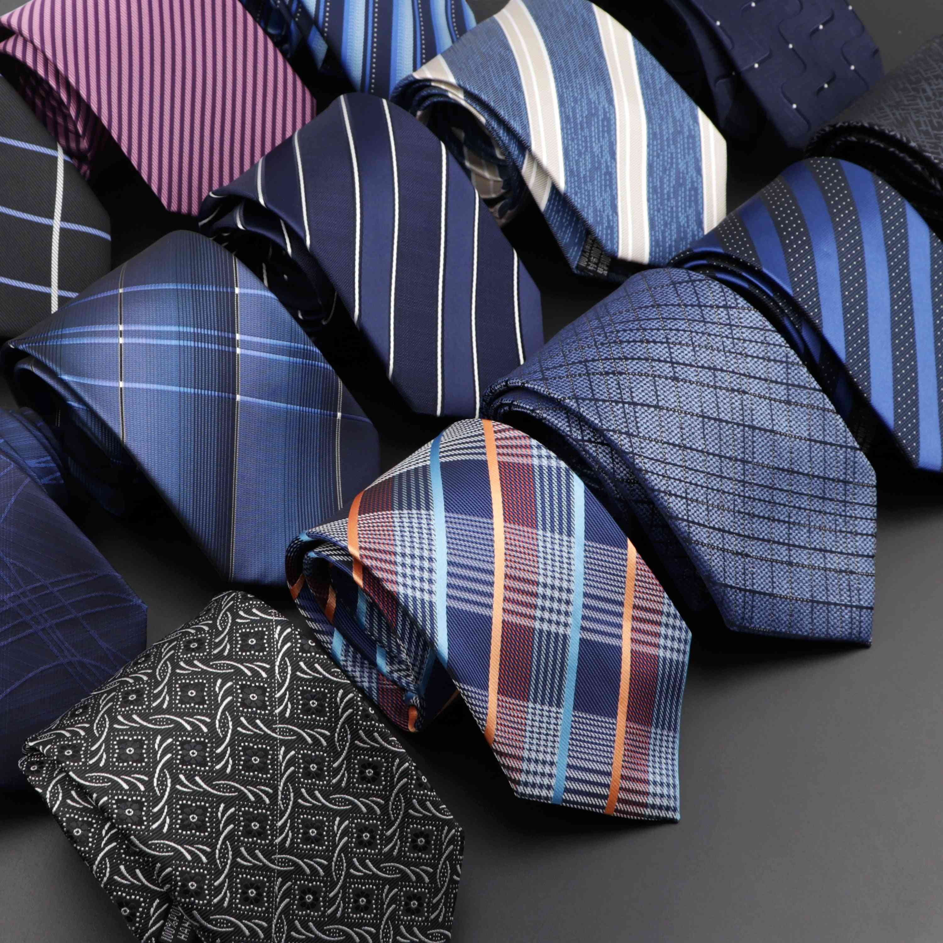 Classic Solid/stripe/floral Pattern Necktie For Wedding/party