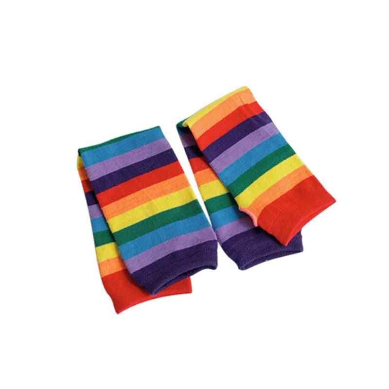 Cute Striped Arm Sleeves Rainbow Sun Protection Sleeve
