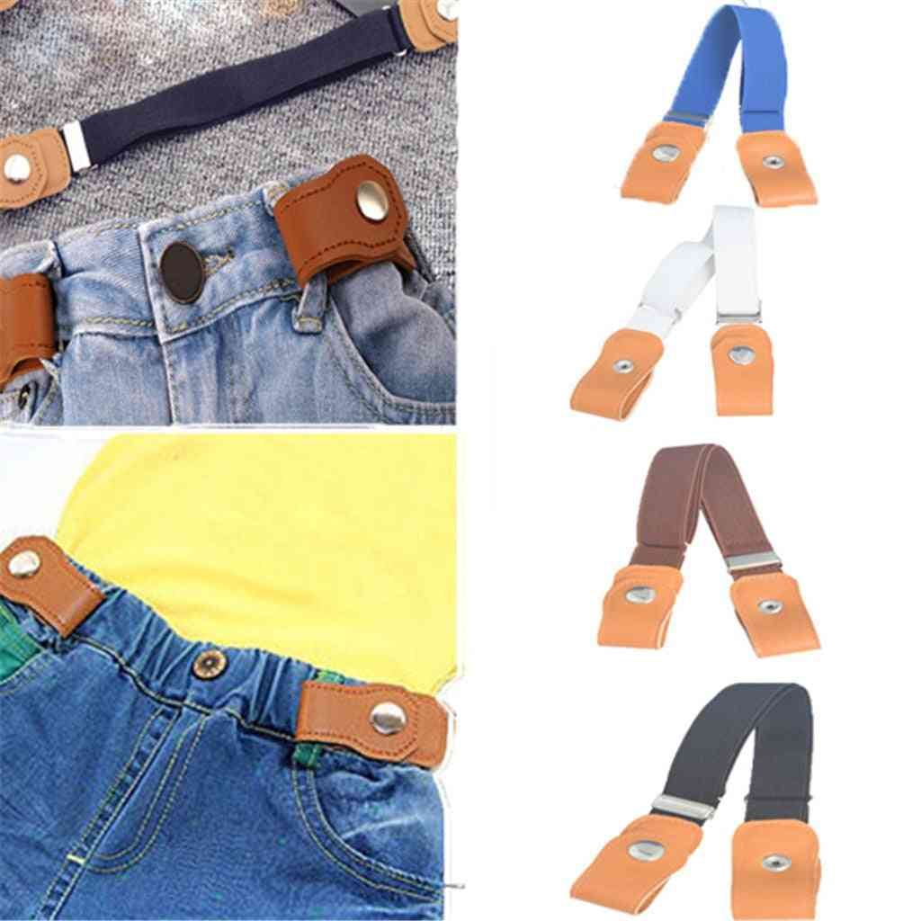Children's Elastic Belt Without Trace Invisible Belts Prevent Pants From Falling Buckle