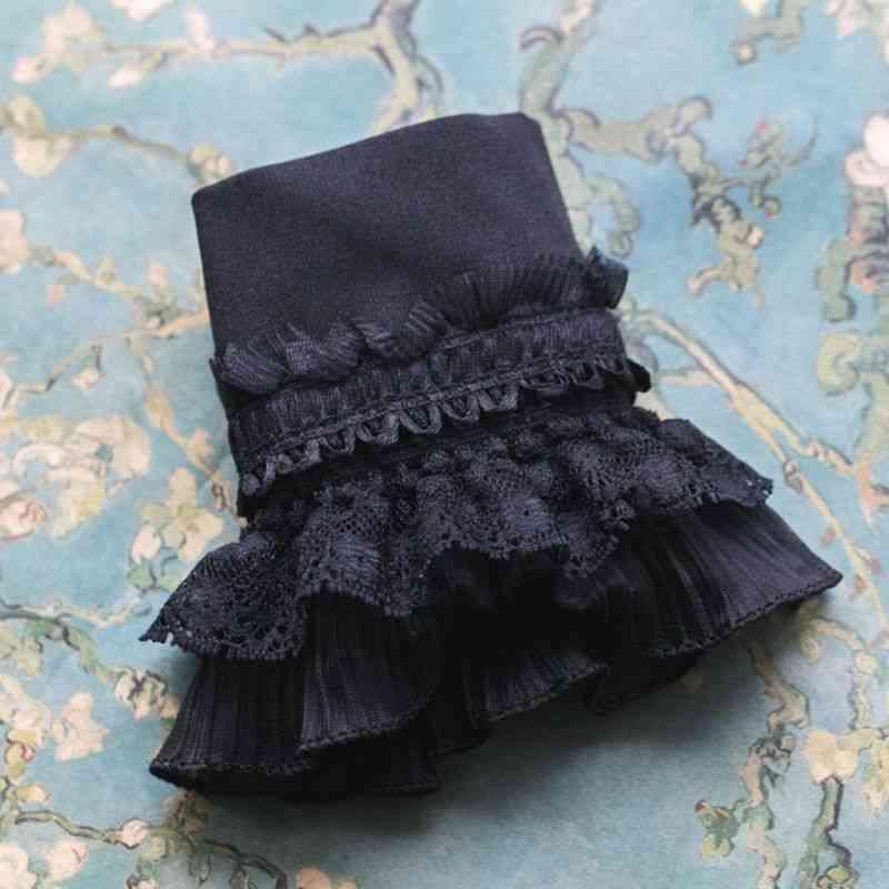 Retro Detachable Sleeve Fake Cuffs - Multi Layer Ruffles Lace Patchwork
