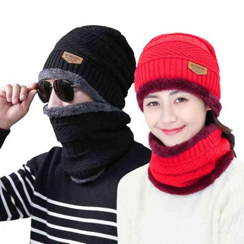 Autumn/winter Woolen Hat And Scarf