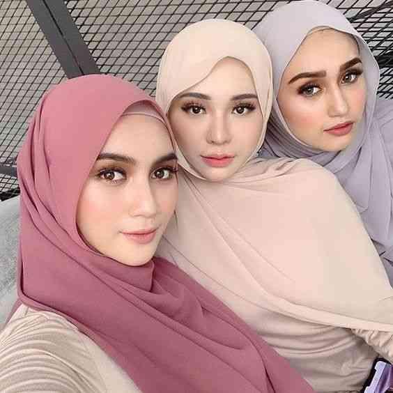 Fashion Plain Bubble Chiffon Scarf Women's Hijab Wrap Headband Muslim