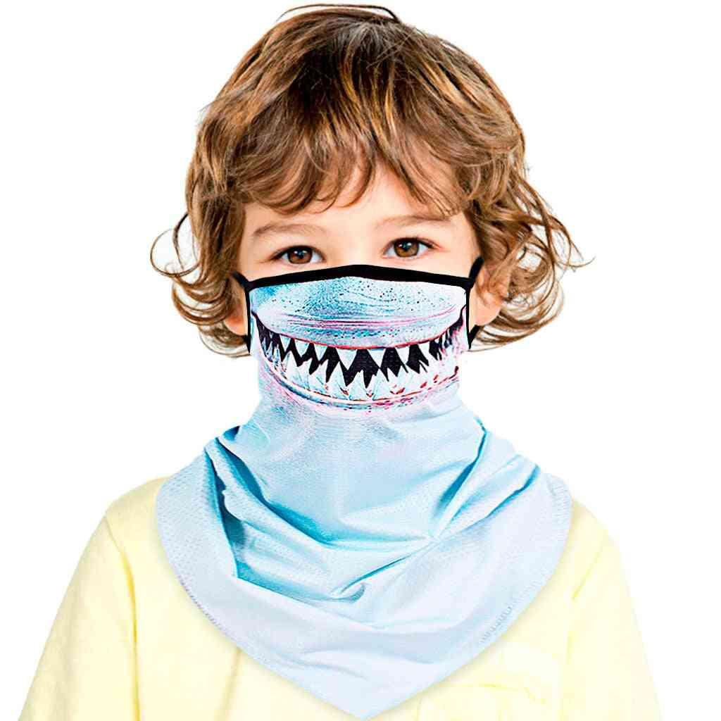 Children Kids Unisex Rave Bandana, Neck Gaiter, Tube Headwear Face Scarf