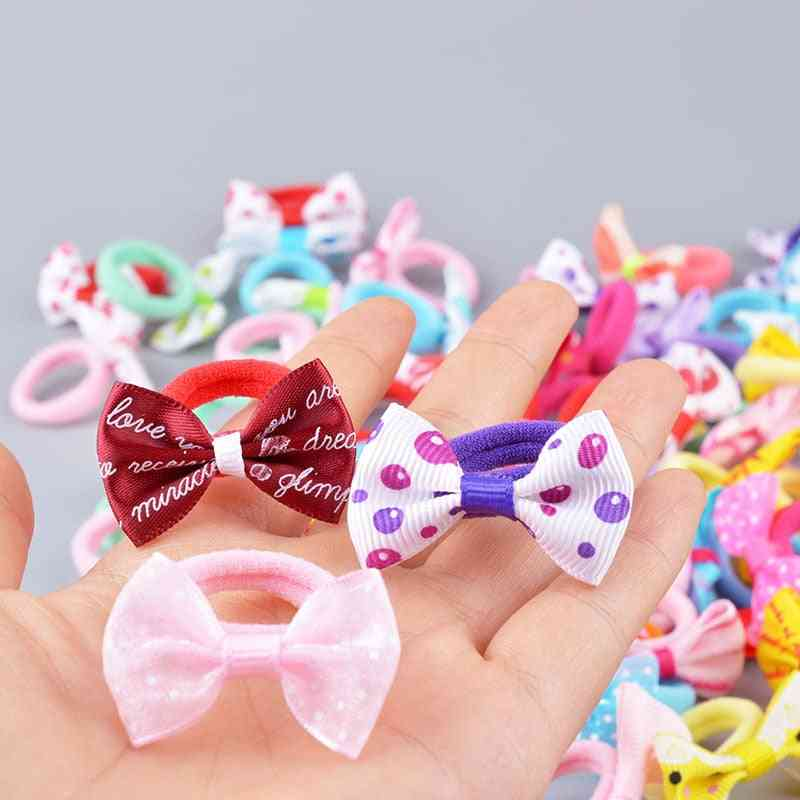 Cute Pattern, Bow Design Elastic Hair Rubber Bands For Kids