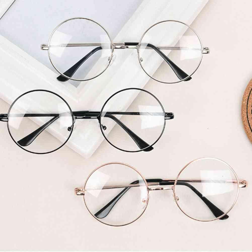 Classic Round Optical Mirror Simple Metal Women/men Glasses Frame.