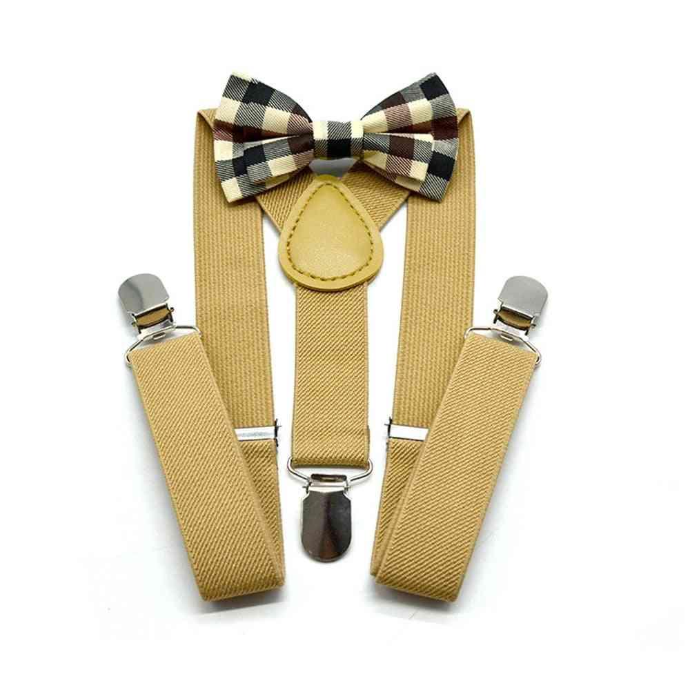 Suspenders Bowtie - Solid British Wedding Style Braces