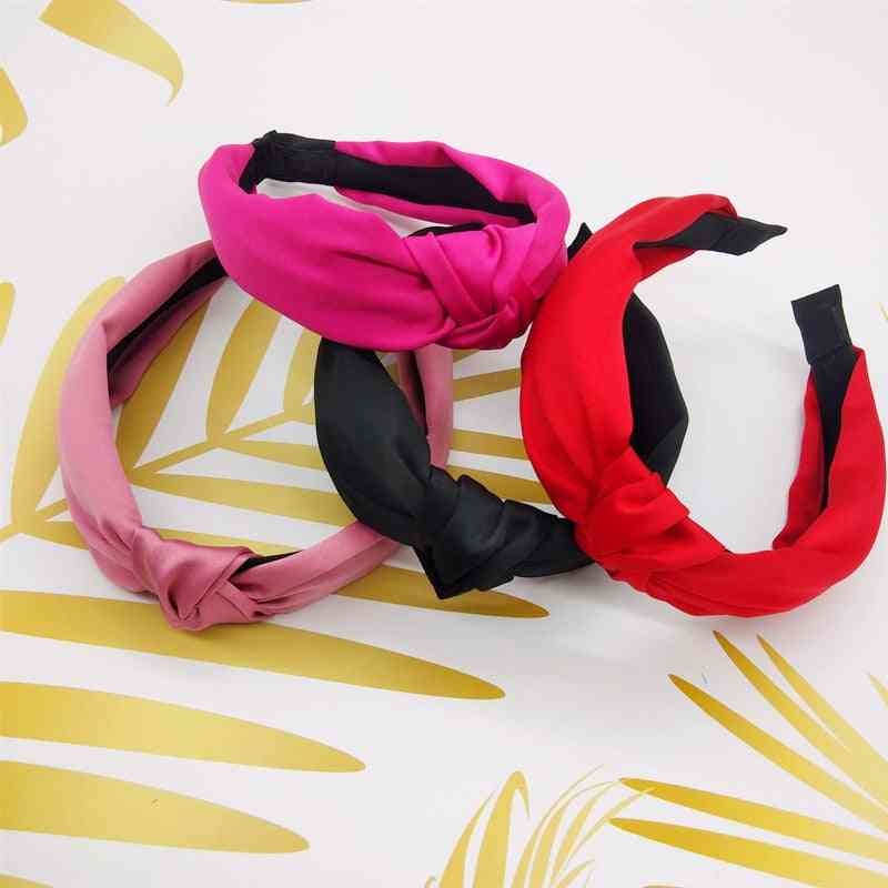 Elegant Solid Knot Women's Hair Bands, Headbands And Hair Accessories