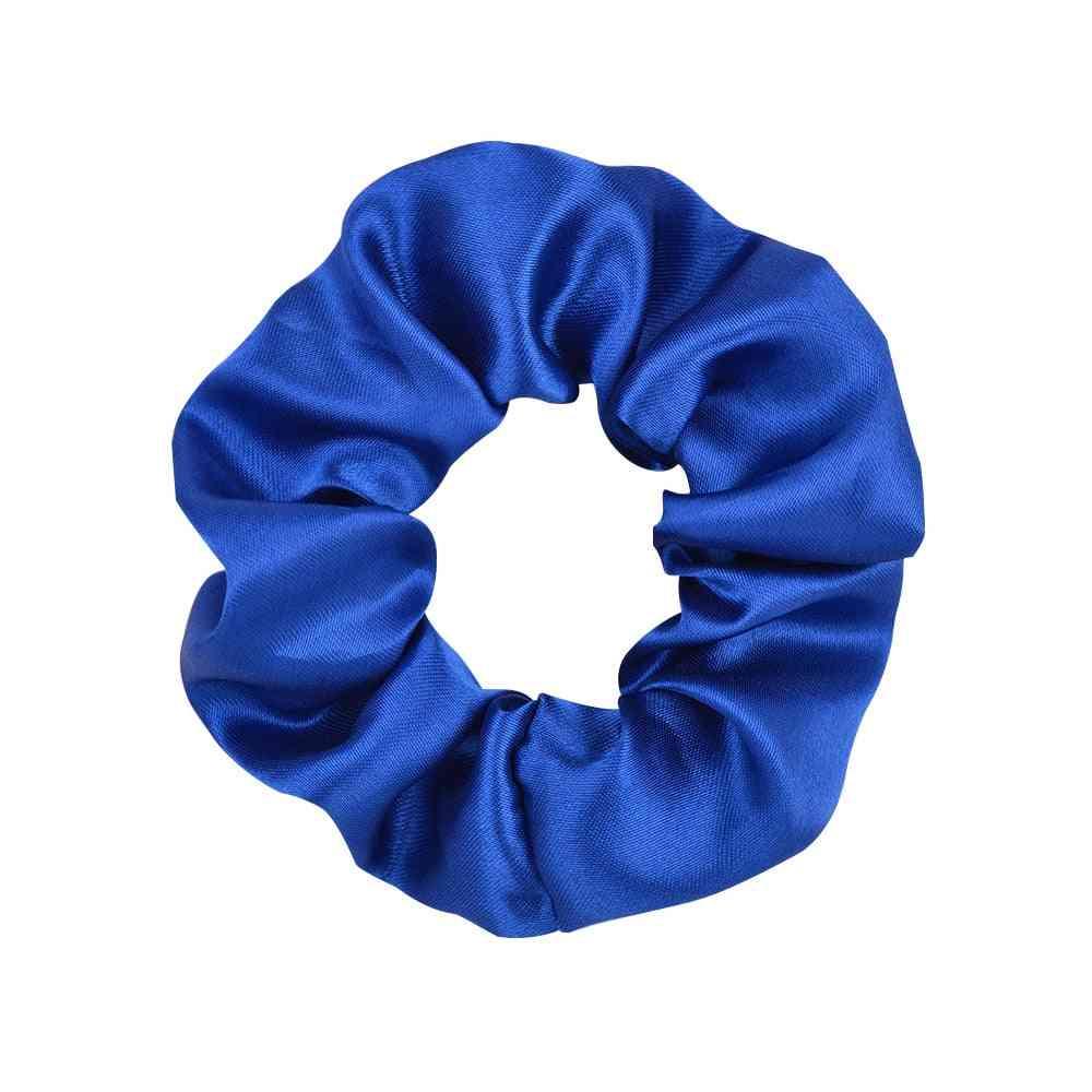 Women Silk Scrunchie Elastic Multicolor Hair Band Ponytail Holder