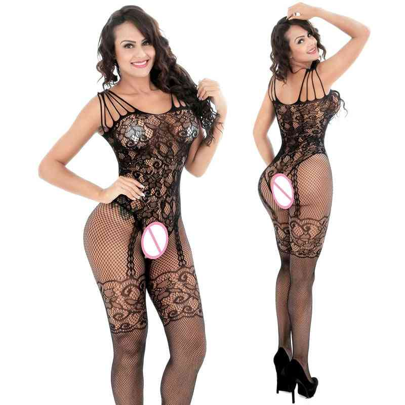 Women Full-body Slips Open Crotch Intimates Sexy Slips Clothes