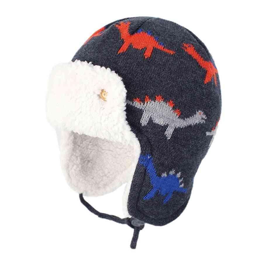 Kids Winter Cute Cartoon Cotton Fleece Warm Hat