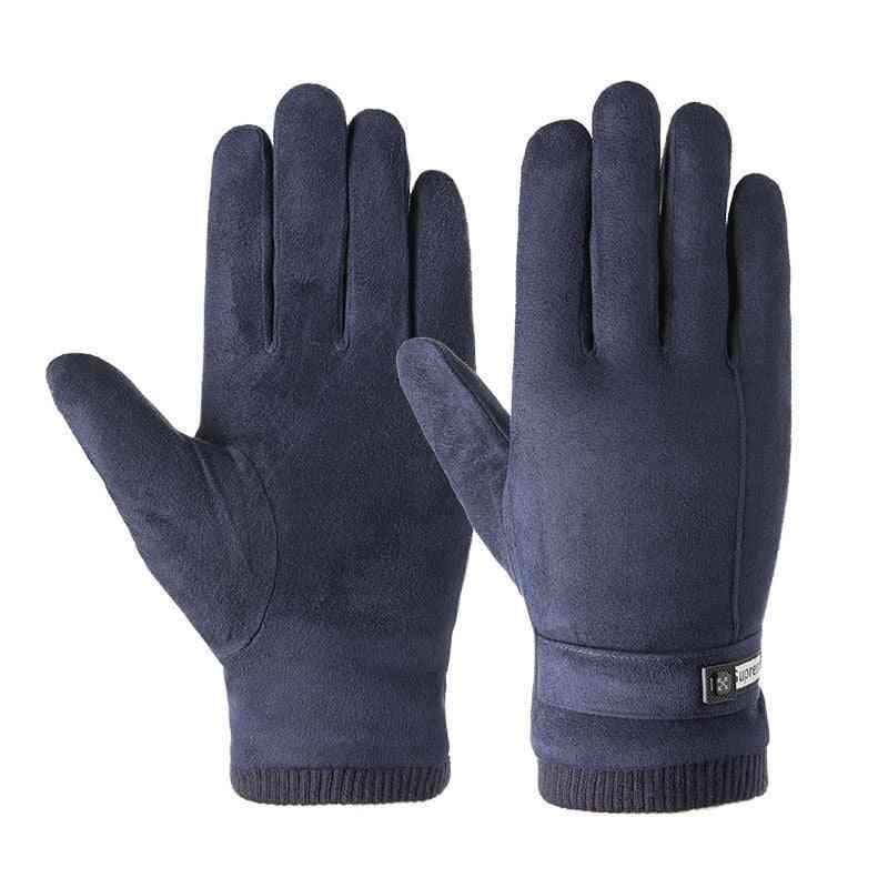 Autumn Winter Warm Padded Touch Screen Gloves For Male