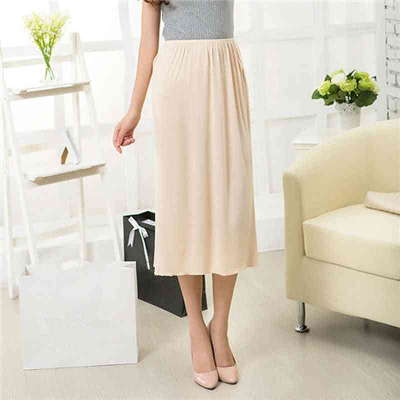 Women Half Slips Solid Casual Petticoat Skirt Knee Dress