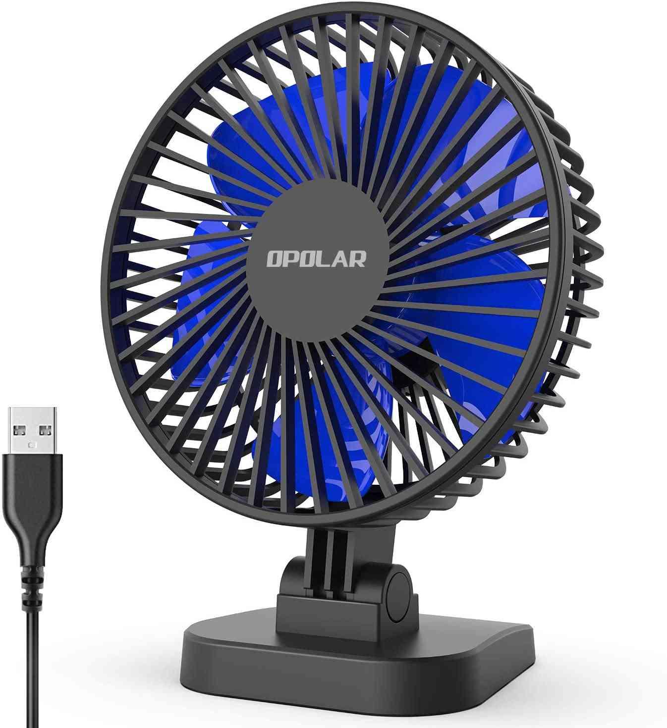 Mini Usb Desk Whisper Quiet Portable Fan For Desktop Office Table