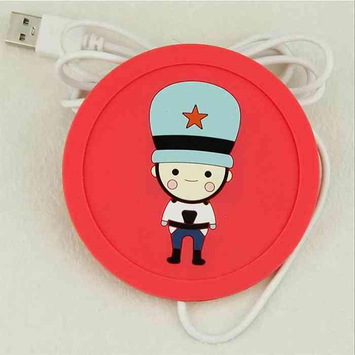 Usb Warmer Gadget Cartoon Silicone Thin Cup-pad / Coffee Tea Drink Heater Tray Mug Pad