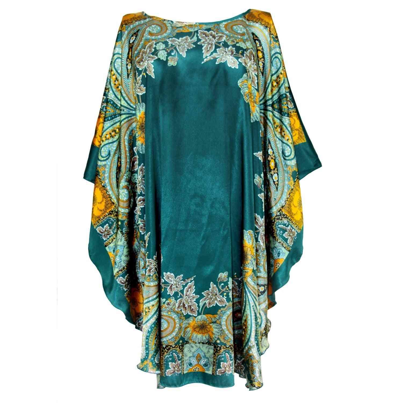 Summer Casual Sexy Female Silk Rayon Robe Bath Nightgown
