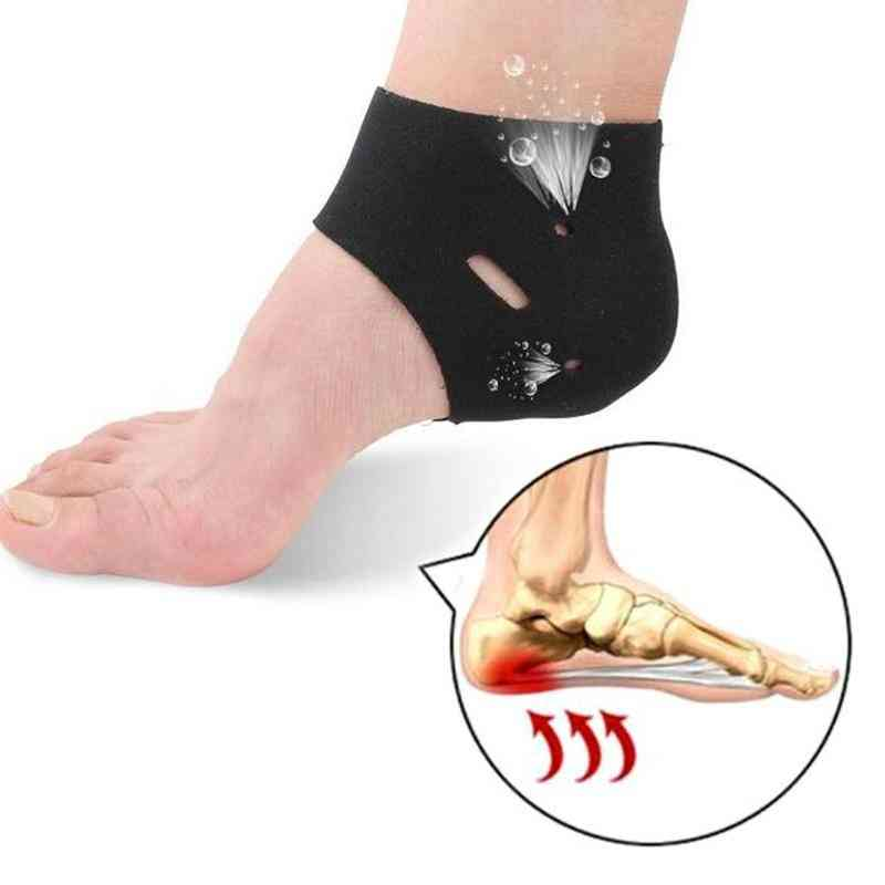 Corrective Sock Cover, Plantar Fasciitis Therapy Heel Protector Orthotic Insole  (black)