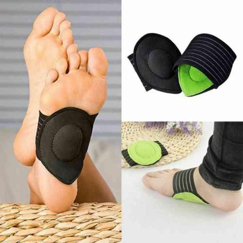 Foot Insoles Arch Support Plantar Fasciitis Heel Cushion Fallen  (black)