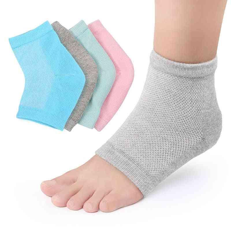 Soft Elastic Silicone Moisturizing Foot Skin Care Cotton Socks