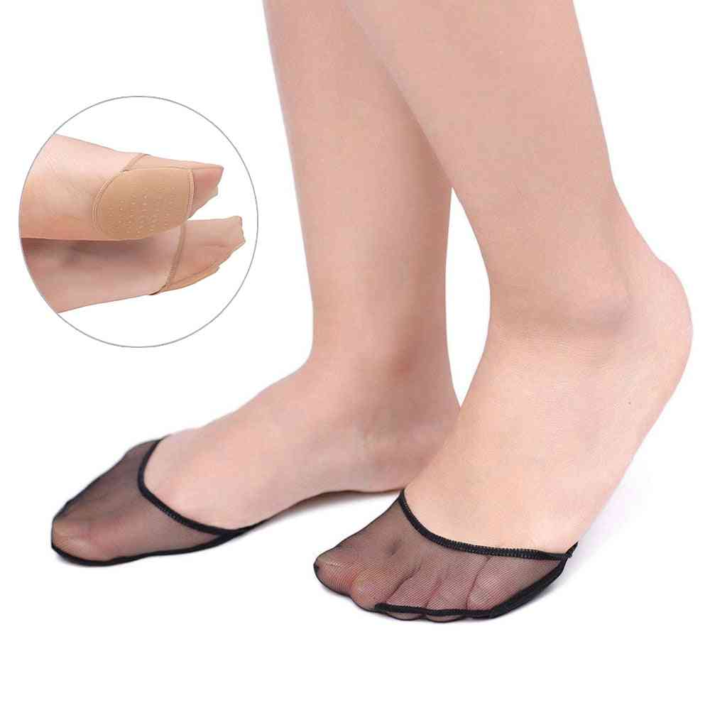 Heels Cushion Anti-slip Dotted Invisible Women Forefoot Insole Pad