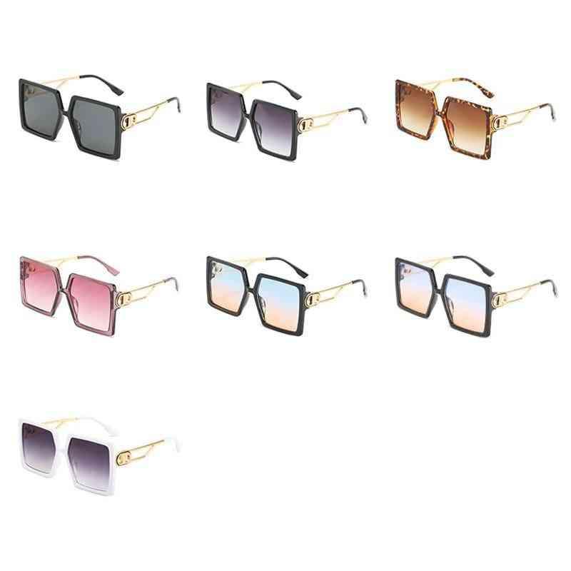 Driving Glasses Womens Oversized Square Frame Letter D Sunglasses Vintage