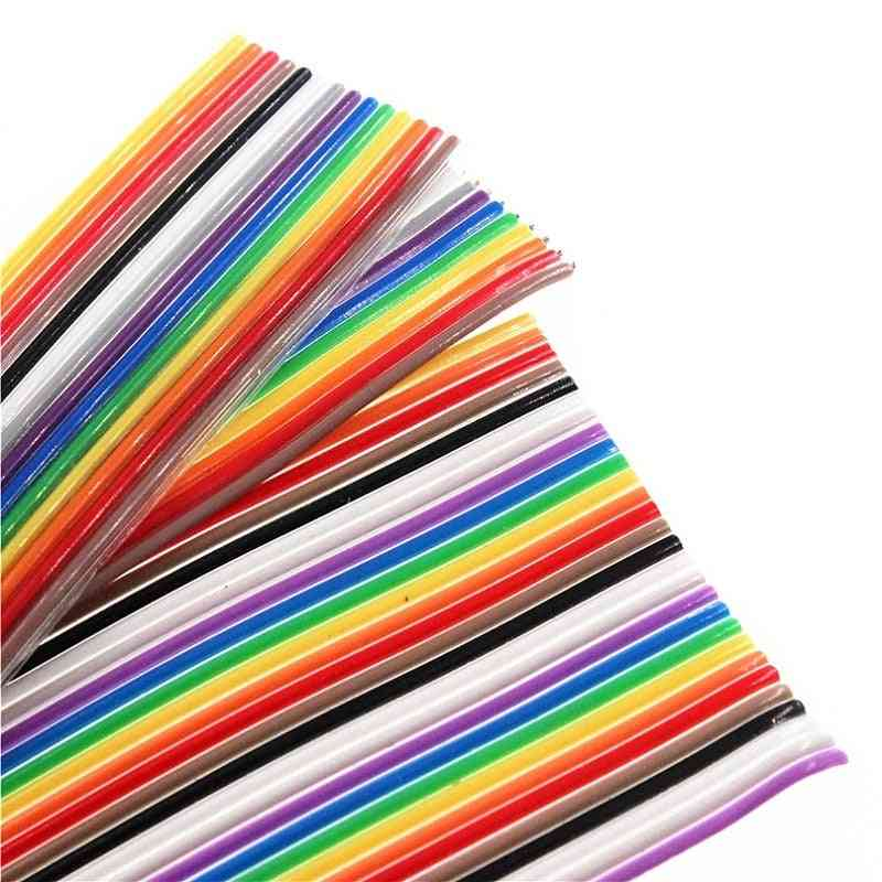 Pitch Color Flat Ribbon Cable Rainbow Wire For Fc Dupont Connector