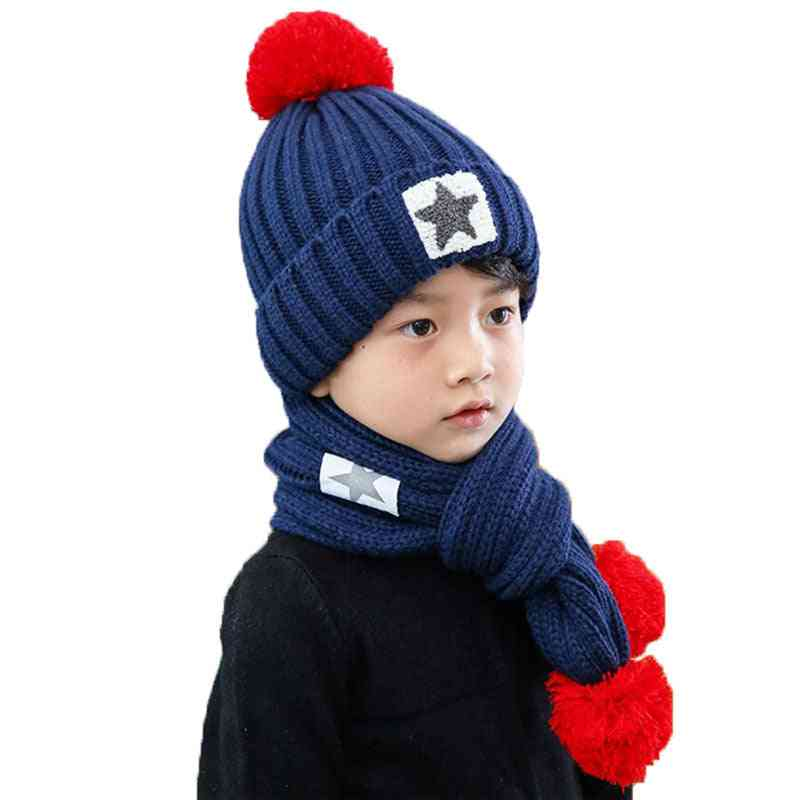 Winter Hat Scarf Set For, Cap