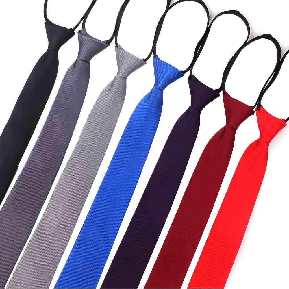 Slim Zipper Necktie Women