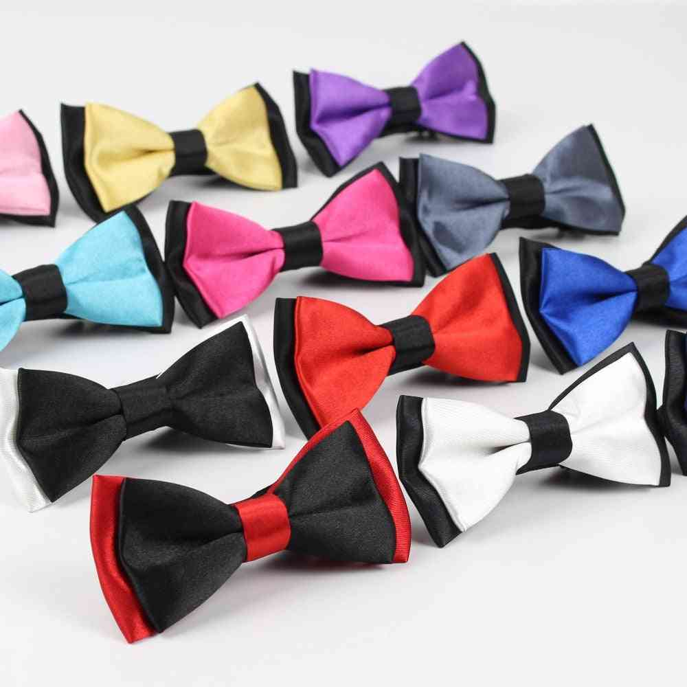 Classic Kid Suit Neckwear Baby Boy's Fashion Solid Color Adjustable Bow