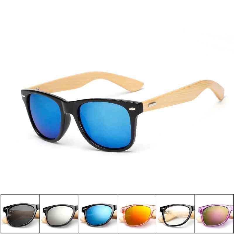 Wood Sunglasses Square Bamboo Mirror Handmade
