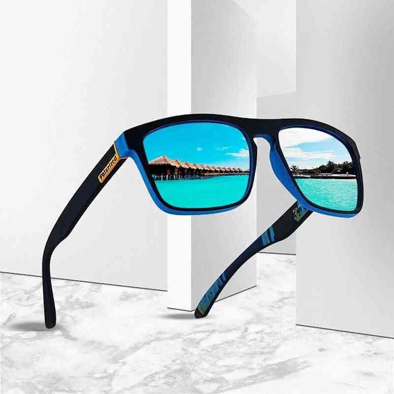 Polarized Men Classic Design Mirror Fashion Square Fashion Guy's Sun Glasses