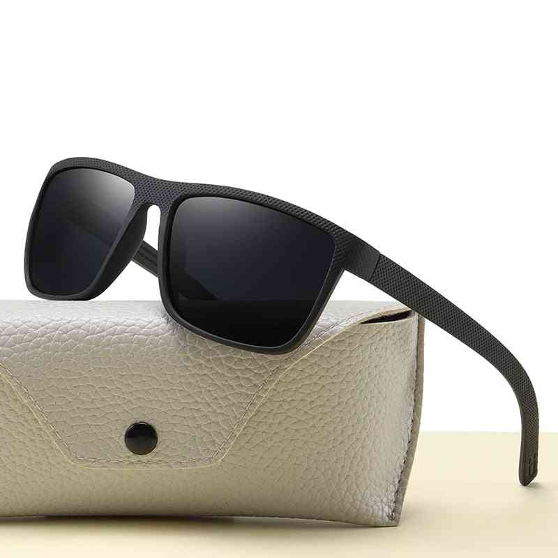 Vintage Sports Style Polarized Men Driving Square Shades Sunglasses